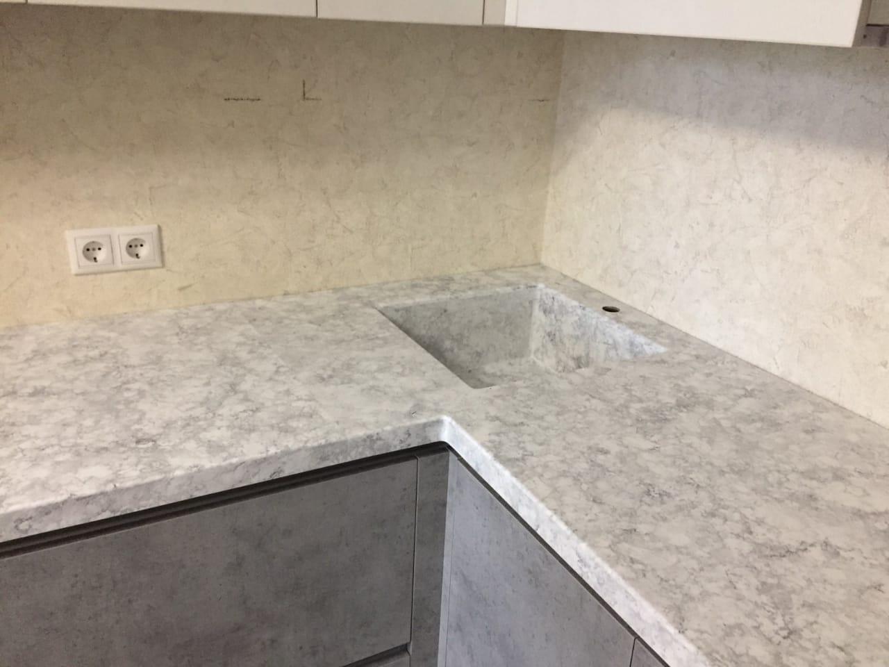 лофт серая стеновая панель
